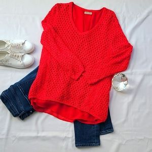 Lucky Brand Layered Sweater (L)
